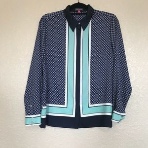 Vince Camuto Printed Button Down